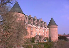 Chateau at Rochechouart, made of meteorite impact breccia