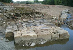 Recently discovered Roman Pont de Pilas