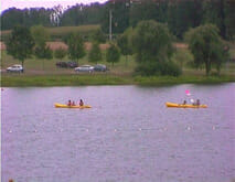 Watersports - Canoeing at La Guerlie, Lacs de Haute Charente