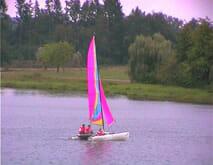 Watersports - Catamaran sailing at La Guerlie, Lacs de Haute Charente