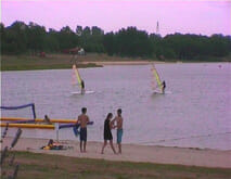 Watersports - Windsurfing at La Guerlie beach, Lacs de Haute Charente