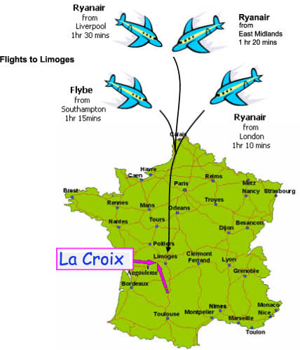 Holiday flights to France