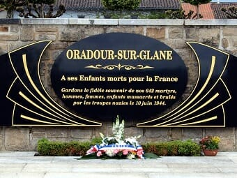 Martyred village of Oradour sur Glane