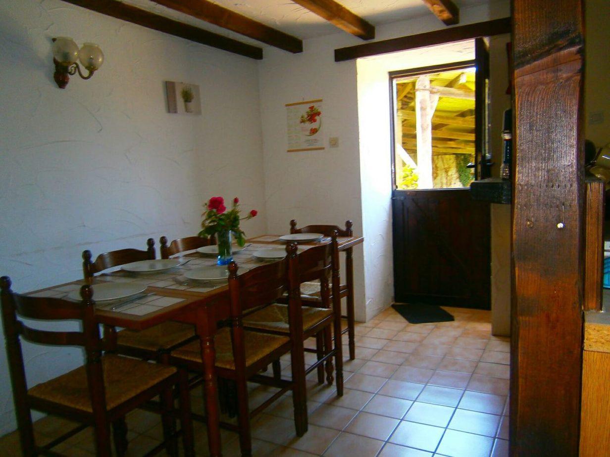Racine's dining area