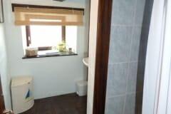 Racine's shower and bathroom